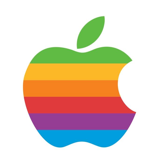 Регистрация нового разноцветного товарного знака (логотипа) Apple